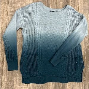 American Eagle teal ombré sweater size M